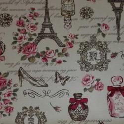 Tessuto Stampa Parigi - Altezza 110 cm