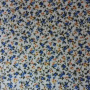 Patchwork Fabric Cream with Blue and Yellow Flowers