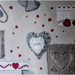 Tessuto Love - Altezza 280 cm