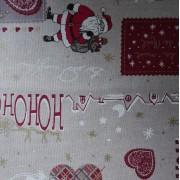 Tessuto Natalizio Babbo Natale - Altezza 280 cm