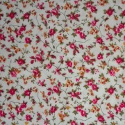 Patchwork Fabric Cream with Pink and Yellow Flowers