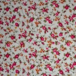 Tela Patchwork con Flores Rosa y Amarillos