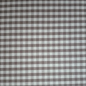 Tessuto Quadretti - Punto Suisse - Altezza 180 cm  - Nocciola