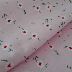 Pink Flower Fancy Cotton Fabric