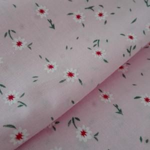 Tessuto in Puro Cotone - Fiori Piccoli Rosa