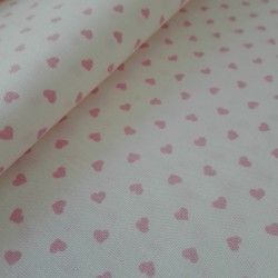 Tessuto in Puro Cotone - Cuori Rosa