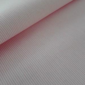 Tessuto in Puro Cotone - Righe Rosa