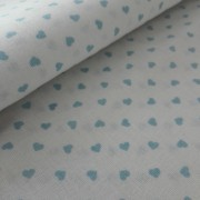Light Blue Hearts Fancy Cotton Fabric