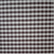 Checkered Fabric - Width 180 cm - Coffee