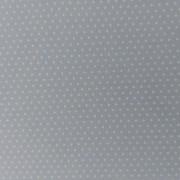 Tessuto in Cotone Celeste con Pois Bianchi - Altezza 110 cm