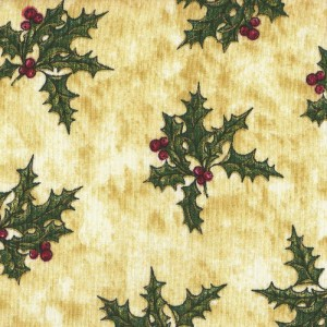 Patchwork Fabric - Christmas Mistletoe