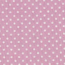 Patchwork Fabric  - Pink with White Spot