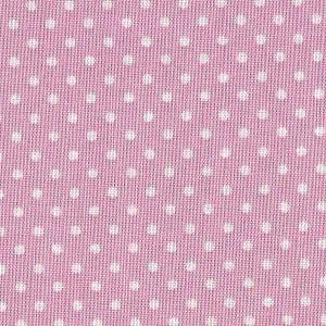 Tejido Patchwork - Rosa con Lunares Blancos