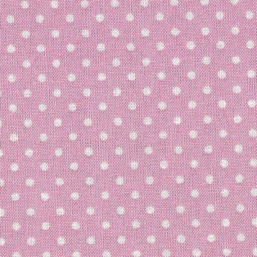 Tessuto Patchwork - Rosa con Pois Bianchi