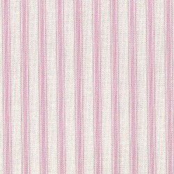 Patchwork Fabric Pink Ticking Stripe