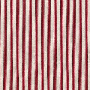 Patchwork Fabric Red Ticking Stripe