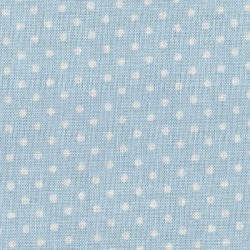 Patchwork Fabric  - Ligh Blue with White Spot