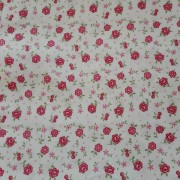 Patchwork Fabric Cream with Pink Flowers