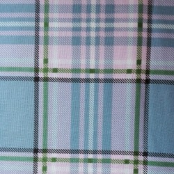 Patchwork Fabric Scottish Squares - Blue and Pink