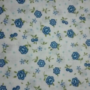 Tessuto Patchwork - Fiori Blu