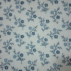 Patchwork Fabric - Blue Sprigs