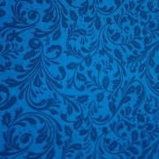 Patchwork Fabric - Blue with Sprigs