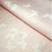 Tela de Algodón Rosa con Mariposas - Ancho 300 cm