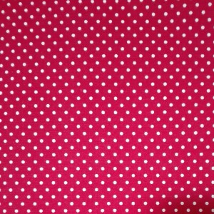 Red Cotton Fabric with Little White Spot - Width 150 cm
