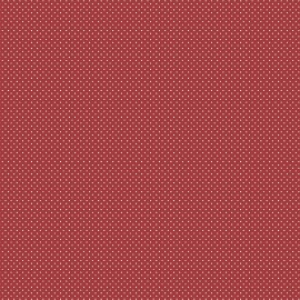Cotton Fabric  Red with Little White Spot