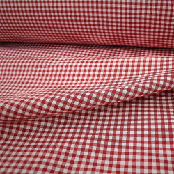 Checkered Fabric - Width 140 cm - Red