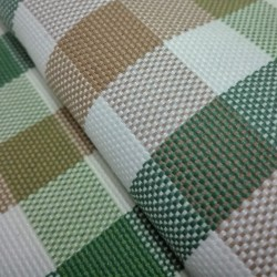 Tessuto Panama Avalon a Quadri Verde - Altezza 280 cm