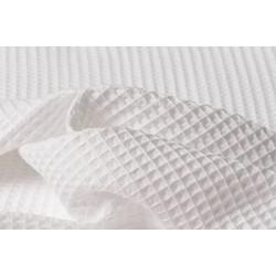 Tessuto Nido d'Ape  Marta - Colore Bianco