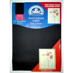 DMC - Aida Fabric Black Color - Size 20 x 30 ''
