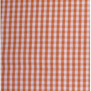 Checkered Fabric - Width 180 cm - Orange