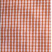 Tessuto Quadretti - Punto Suisse - Altezza 180 cm  - Arancio