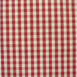 Checkered Fabric - Width 180 cm - Bordeaux
