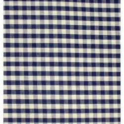 Checkered Fabric - Width 180 cm - Blue