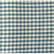Tessuto Quadretti - Punto Suisse - Altezza 180 cm  - Celeste