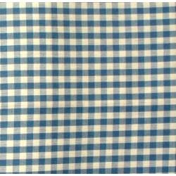 Checkered Fabric - Width 180 cm - Light Blue