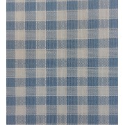Rustichella Checkered Fabric 1x1 cm - Width 180 cm - Light Blue