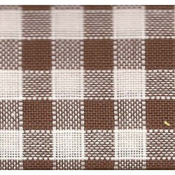 Rustichella Tejido a Cuadros 1x1 cm - Ancho 180 cm - Marrón
