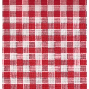 Rustichella Checkered Fabric 1x1 cm - Width 180 cm - Red 302