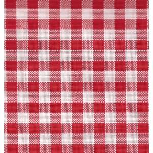 Rustichella Quadrettato 1x1 cm - Altezza 180 cm  - Rosso 302