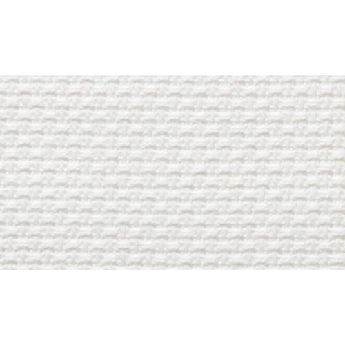 Tela Aida 50 - Puro Cotone - Altezza 180 cm - Bianco