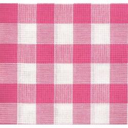 Rustichella Checkered Fabric 2x2 cm - Width 180 cm - Dark Pink