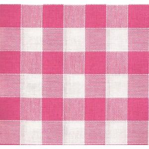 Rustichella Tejido a Cuadros 2x2 cm - Ancho 180 cm - Color Rosa Oscuro