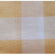 Riviera Linen Fabric - Yellow Big Boards - 90x90 cm