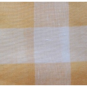 Riviera Linen Fabric - Yellow Big Boards - 180 cm