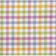 Colonia Multicolor Chicken Scratch Fabric 90x90 cm