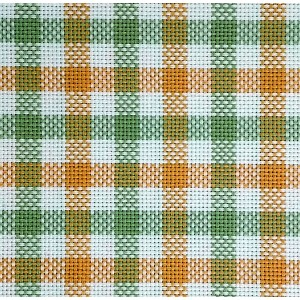 Colonia Double Chicken Scratch Fabric - Green and Yellow